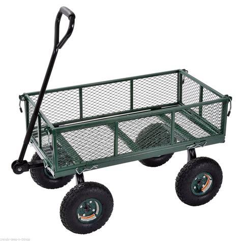 best garden cart sandusky heavy duty jumbo utility garden wagon cart steel