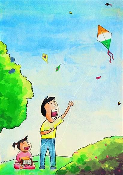 Kite Flying Kites Sankranti Makar Children Republic