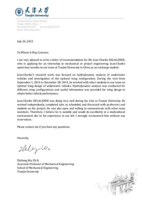 Recommendation letter from Zhiliang Wu - Jean-Charles