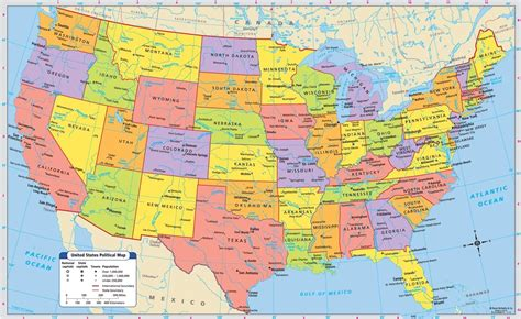 usa map  cities states maps united states cities