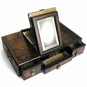 Boite A Bijoux En Bois : boite bijoux en bois aspect cuir magasin du meuble asiatique et chinois ~ Teatrodelosmanantiales.com Idées de Décoration