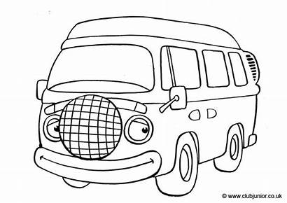 Coloring Vw Colouring Drawing Bus Transport Camionnette