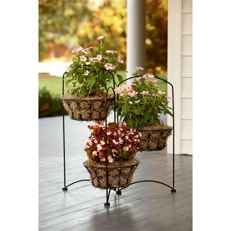 garden oasis  tier wire basket plant stand outdoor