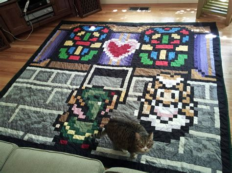 Legend Of Zelda Quilt I Made As A Wedding Present For Two