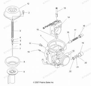 Polaris Atv 2010 Oem Parts Diagram For Engine  Carburetor
