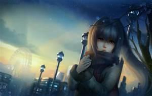 Anime, Anime, Girls, Crying, Scarf, Tears, Original, Characters, Plastic, Memories, Isla, Wallpapers