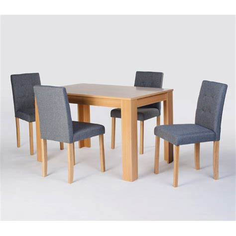 wooden dining table and 4 chairs furniture in fashion