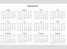Free 2018 Printable Calendar Template Calendar 2018