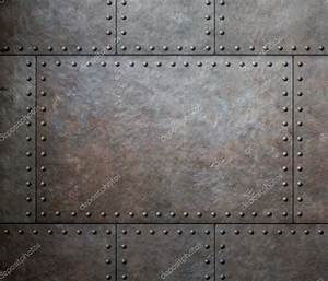 Metal texture with rivets as steam punk background or ...