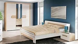 Schlafzimmer Hochglanz Weiß : schlafzimmer tizianos set in wei hochglanz sonoma eiche ~ Frokenaadalensverden.com Haus und Dekorationen