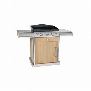Meuble Pour Plancha : forge adour meuble roulant bois inox innova bewak ~ Melissatoandfro.com Idées de Décoration