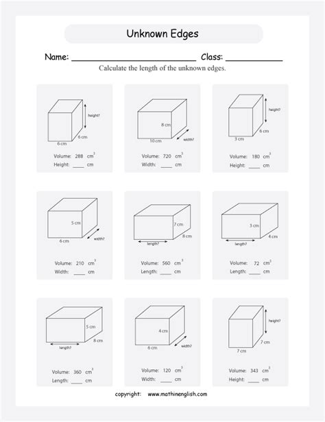 math volume worksheets grade 6 volume worksheetsgeometry