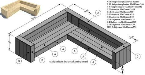 hoekbank steigerhout gratis bouwtekeningen - Hoekbank Steigerhout Zelf Maken Tekening