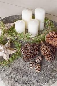 Adventskränze Deko Ideen : 25 einzigartige weihnachtsdeko aus naturmaterialien ideen ~ Haus.voiturepedia.club Haus und Dekorationen
