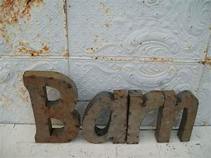 rustic welded tin barn sign trade sign for indoors or With welded metal letters