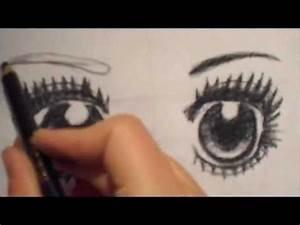 Dessin Facile Yeux : dessin du visage d 39 un personnage de manga partie 2 les yeux youtube ~ Melissatoandfro.com Idées de Décoration