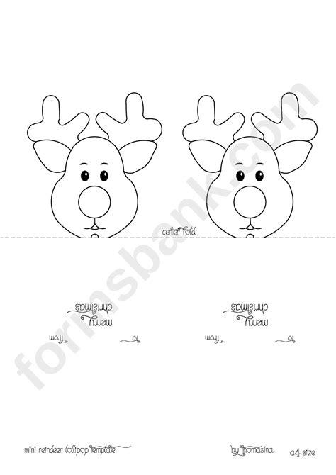 Deer Lollipop Cover Template Pdf mini reindeer head lollipop template printable pdf download