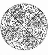 Mandala Coloring Pages Complex Printable Getcolorings sketch template