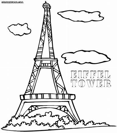 Eiffel Tower Coloring Colorings