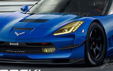 chevrolet corvette cr race car rendered