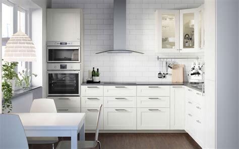 ikea cuisine method cuisine metod toute blanche avec faces blanc cass et