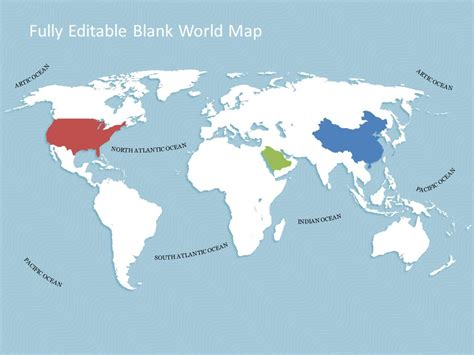 map powerpoint template world map