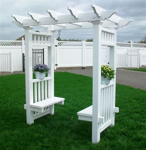 Arbor With Bench by How To Build A Vinyl Bench And Railing And Arbors