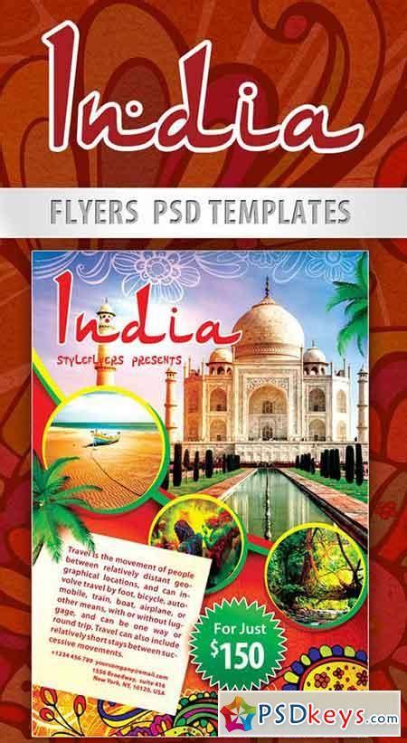 india flyer psd template facebook cover