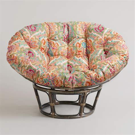 papasan chair cushion pattern venice papasan chair cushion world market