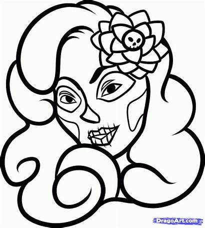 Dead Draw Step Drawing Coloring Pages Spanish