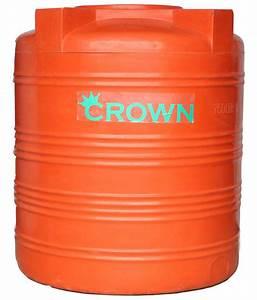Buy Crown Orange Lldpe Plastic Triple Layer Water Tank For ...