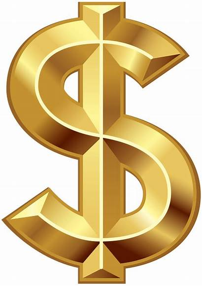 Dollar Sign Transparent Clip Gold Symbol Clipart