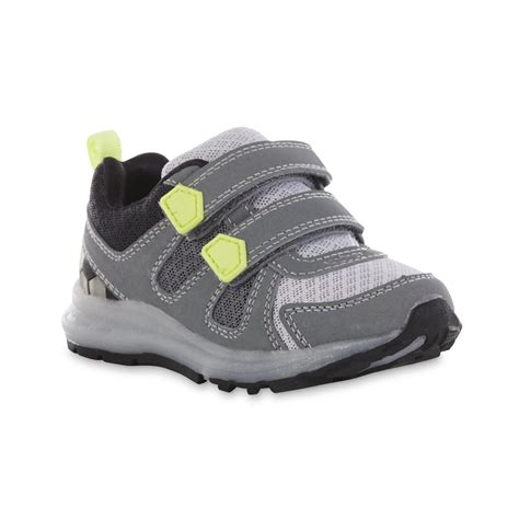 carter s light up sandals carter 39 s boy 39 s fury gray yellow light up athletic