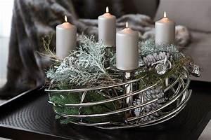 Adventskranz Edelstahl Dekorieren : adventskranz corona rund von fink ~ Markanthonyermac.com Haus und Dekorationen