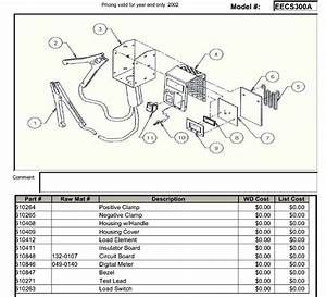 Battery Tester Wiring Diagram : snap on model eecs300a battery load tester parts list ~ A.2002-acura-tl-radio.info Haus und Dekorationen