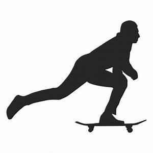 Homem empurrando silhueta de skate - Baixar PNG/SVG ...