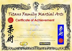 martial arts certificates With martial art certificate templates free