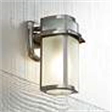 brushed nickel frosted glass 11 1 4 quot high outdoor wall light u1390 ls plus