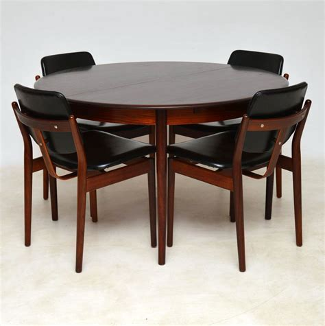 rosewood dining chairs by arne vodder
