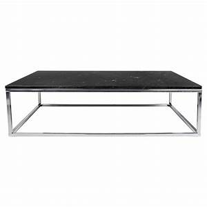 prairie blk chrome marble coffee table by temahome eurway With black and white marble coffee table