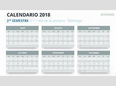 Calendario 2018 para PowerPoint Español