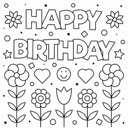 Birthday Printable Cards Coloring Card Homemade Easy