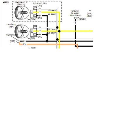 Harley Davidson Fog Light Wiring Diagram by Hi Beam Wire Color Harley Davidson Forums