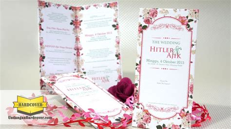 undangan pernikahan bunga  royal wedding organizer