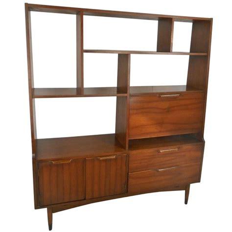 mid century modern bookcase mid century modern room divider bookcase at 1stdibs