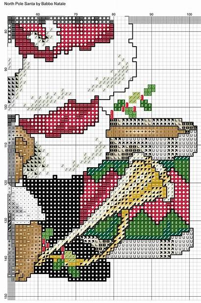 Cross Stitch Pole North Designs Stitching Santa