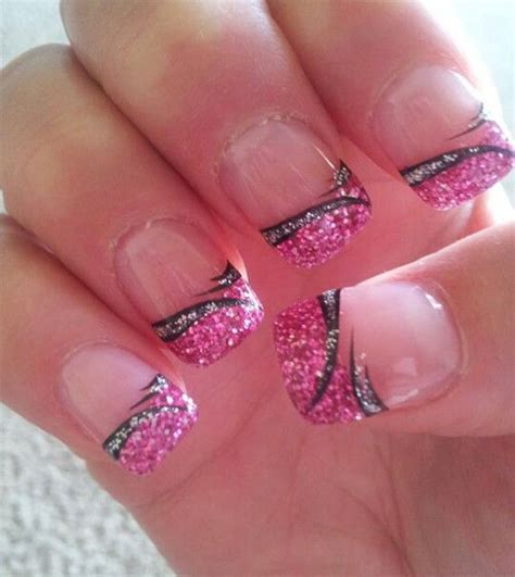 black pink gel nail art designs ideas