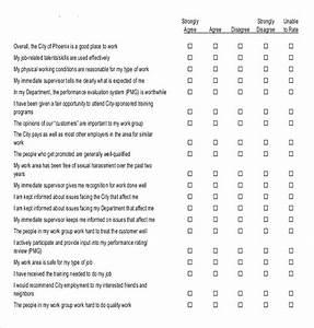 18 employee survey templates free sample example for Attitude survey template