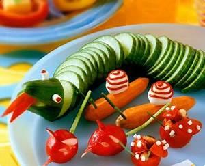 Gemüse Für Kinder : rezept gurkenschlange und paprikaschiffchen gurke ~ A.2002-acura-tl-radio.info Haus und Dekorationen