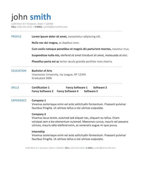 Simple Resume Template Word by Word Template Via Bespoke Resumes Clean Simple White